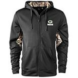 Men's Black/Realtree Camo Green Bay Packers Decoy Tech Fleece Full-Zip Jacket