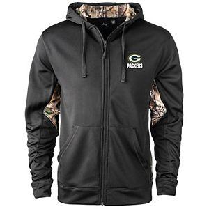 Men's Black/Realtree Camo Green Bay Packers Decoy Tech Fleece Full-Zip Jacket