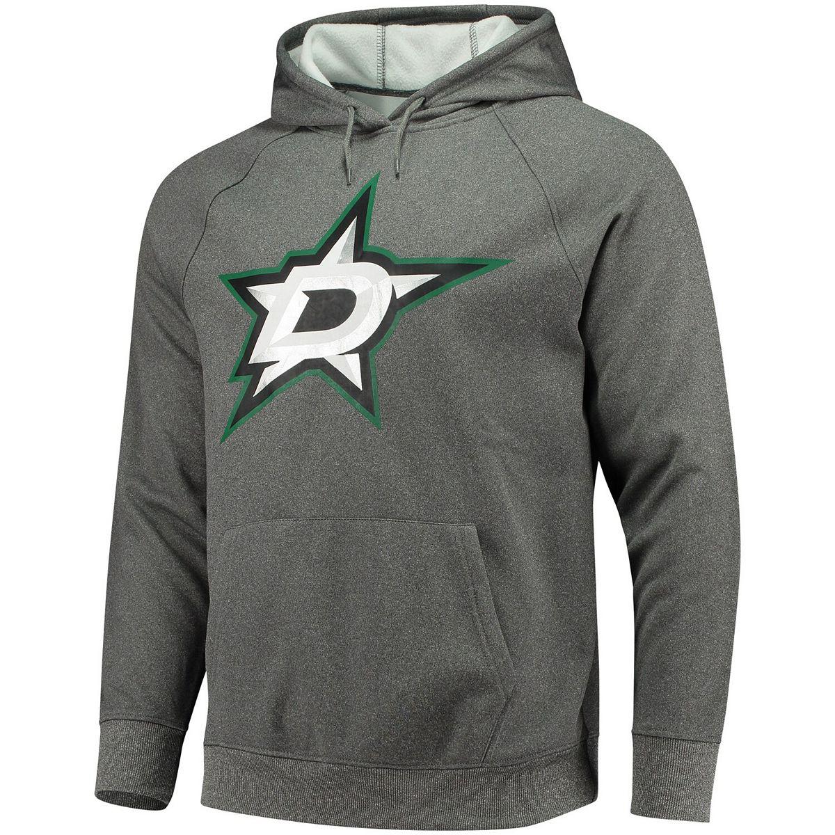 Men's Fanatics Branded Charcoal Dallas Stars Overtime Raglan Pullover Hoodie GHa0A