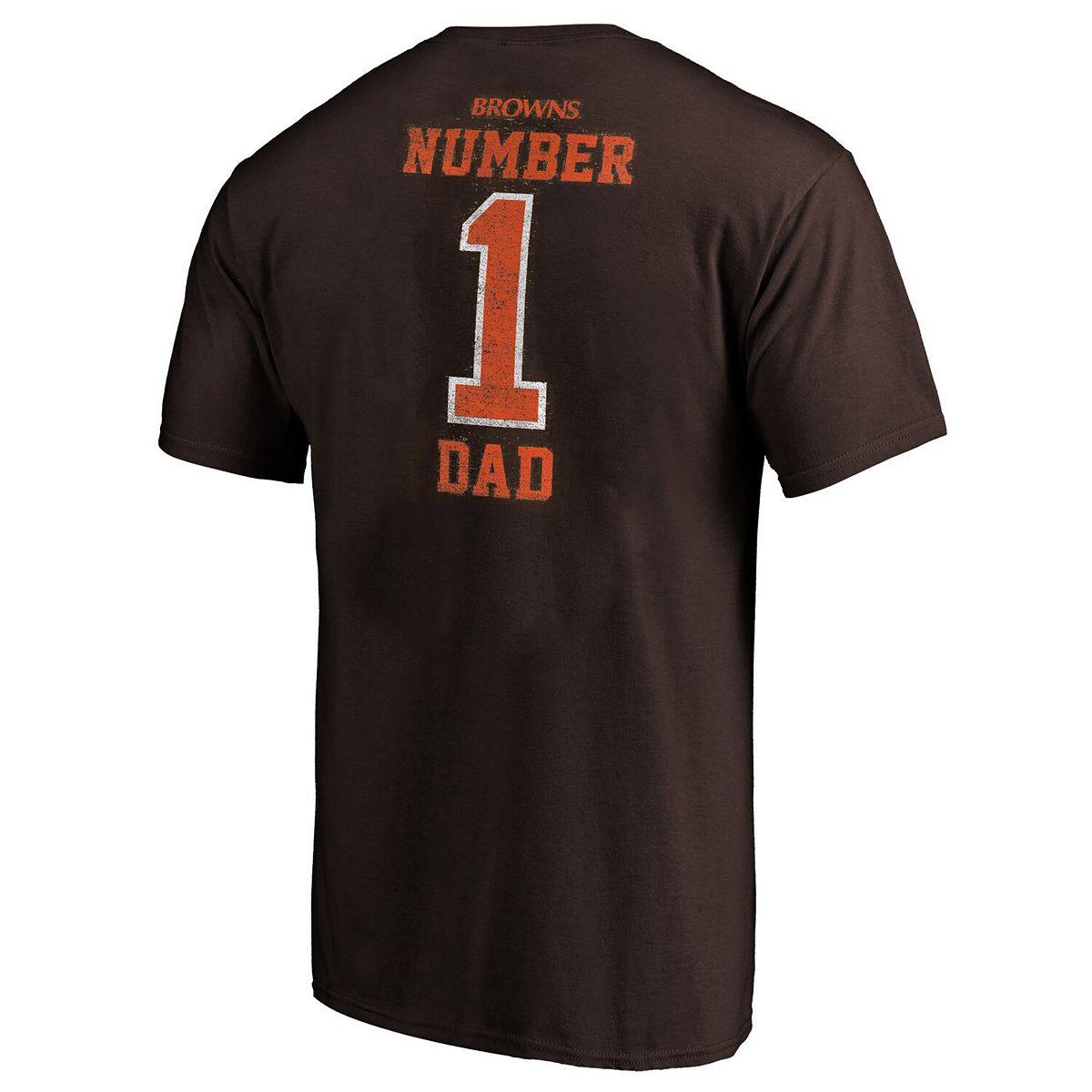 Men's Brown Cleveland Browns Big & Tall Greatest Dad Retro T-Shirt xTeIX