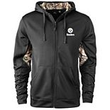 Men's Black/Realtree Camo Pittsburgh Steelers Decoy Tech Fleece Full-Zip Jacket