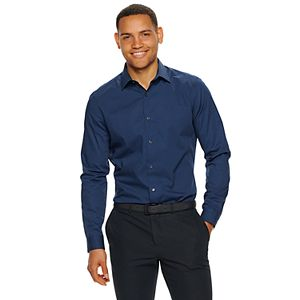 Men's Apt. 9® Extra-Slim Fit Stretch Spread-Collar Wrinkle-Resistant Dress Shirt