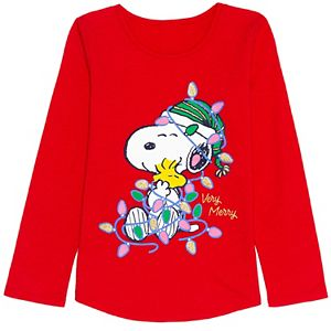 Toddler Girl Jumping Beans® Snoopy Christmas Tee