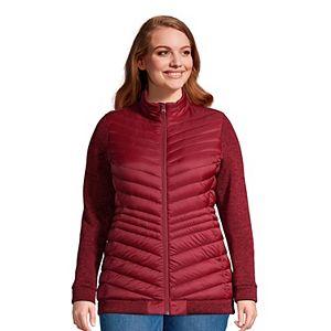 Plus Size Lands' End Ultralight Down Packable Sweater Fleece Jacket