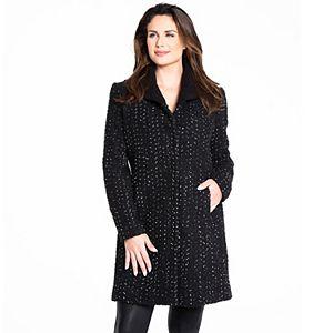 Women's Fleet Street Wool Blend Speckled Tweed Coat