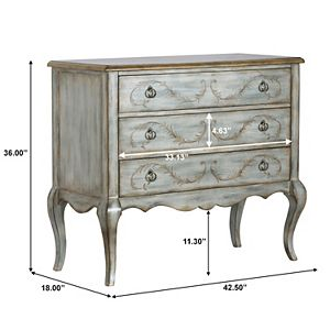 Homefare Painted Laurel Accent 3-Drawer Chest