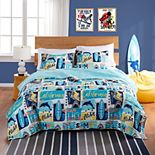 Greenland Home Fashions Wave Rider Quilt Set With Shams