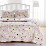 Greenland Home Fashions Misty Bloom Quilt Set With Shams