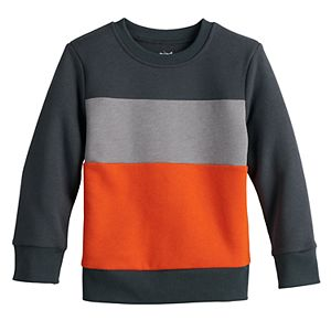 Toddler Boy Jumping Beans® Colorblock Fleece Sweatshirt