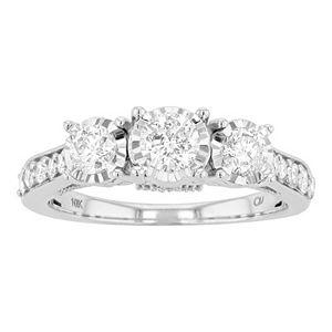 Lovemark 10k Gold 1 Carat T.W. Diamond 3-Stone Ring