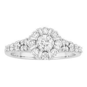 Lovemark 10k White Gold 1 Carat T.W. Diamond Engagement Ring