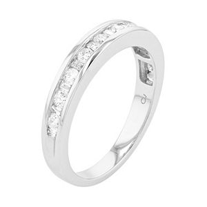 Lovemark 10k White Gold 1/2 Carat T.W. Diamond Ring