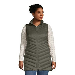 Plus Size Lands' End Ultralight Packable Down Vest
