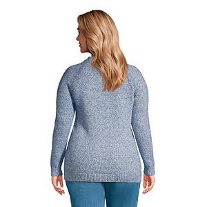 Plus Size Lands' End Marled Crewneck Sweater
