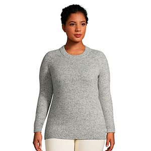 Plus Size Lands' End Marled Crewneck Sweater