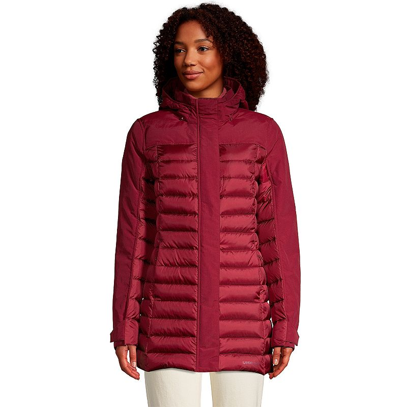Petite Lands' End Squall Insulated Down Winter Coat, Women's, Size: XL Petite, Red