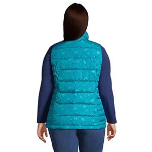 Plus Size Lands' End Winter Down Puffer Vest