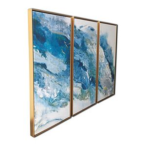 Abstract Regalite Floating Canvas Wall Art