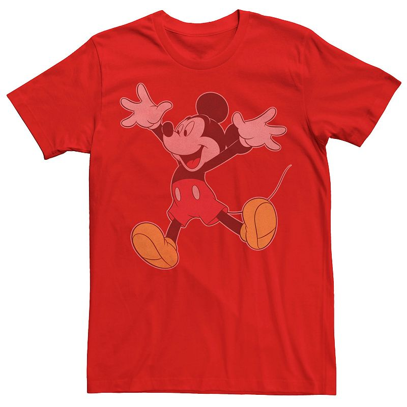 Men's Disney Mickey Mouse Jumping for Joy Portrait Tee, Size: Small, Red
