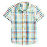 Toddler Boy Jumping Beans® Patterned Woven Shirt