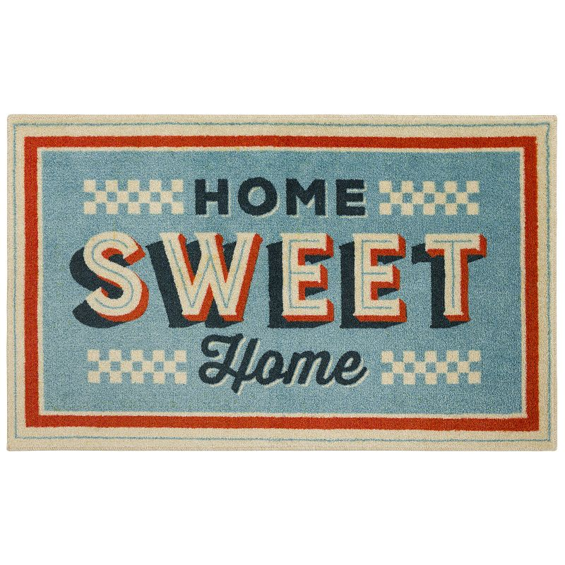Mohawk Home Home Sweet Home EverStrand Accent Rug, Blue, 2X3.5 Ft