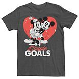 Men's Dinsey Mickey & Minnie Mouse Couple Goals Tee