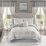 Madison Park Maria 6-piece Comforter Set with Coordinating Pillows