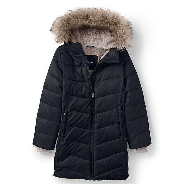 Girls 7-16 Lands' End Winter Fleece Lined Down Alternative ThermoPlume Coat