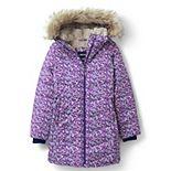 Girls 4-7 Lands' End Winter Fleece Lined Down Alternative ThermoPlume Coat
