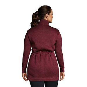 Petite Plus Size Lands' End Utility Sweater Fleece Coat