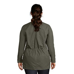 Plus Size Lands' End Water-Resistant Utility Jacket