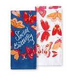 Celebrate Spring Together Social Butterfly Kitchen Towel 2-pk.