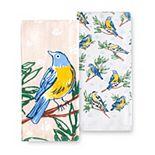 Celebrate Spring Together Bird on Gray Kitchen Towel 2-pk.