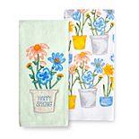 Celebrate Spring Together Flower Pot Kitchen Towel 2-pk.