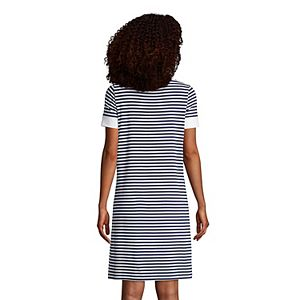 Petite Lands' End Brushed Back Short Sleeve Nightgown