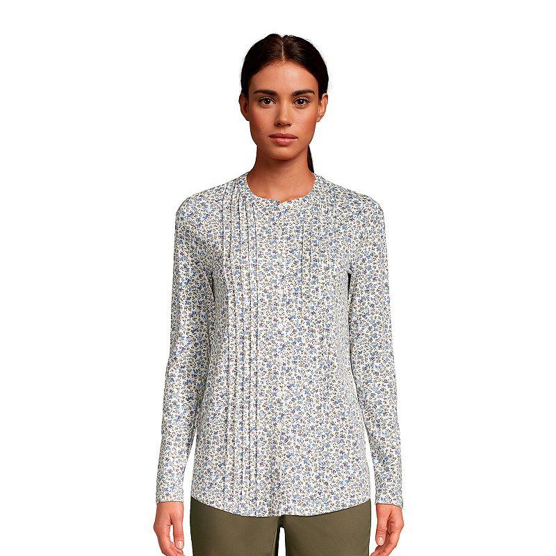 Women's Lands' End Pintuck Tunic Shirt, Size: XL, White