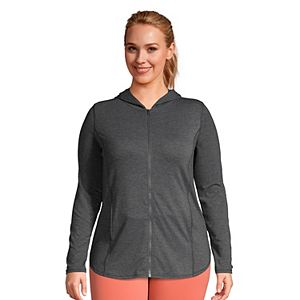 Plus Size Lands' End Moisture-Wicking Hoodie Tunic