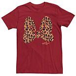 Men's Disney Minnie Mouse Leopard Print Bow Tee