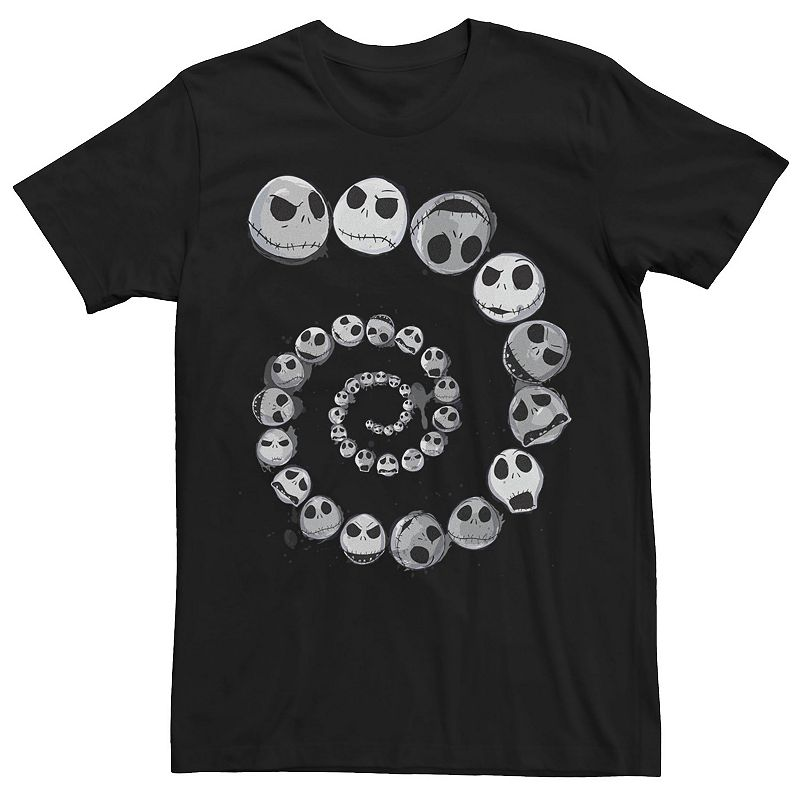 Men's Disney The Nightmare Before Christmas Jack Emotional Spiral Tee, Size: Large, Black