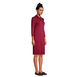 Women's Lands' End French Terry Cowlneck Sweaterdress