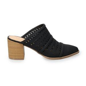 LC Lauren Conrad Ponderosa Women's High Heel Mules