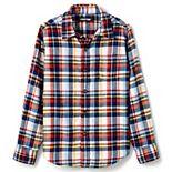 Boys 7-20 Lands' End Long Sleeve Flannel Shirt in Regular & Husky