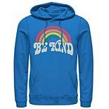 Men's Fifth Sun Be Kind Retro Rainbow Hoodie