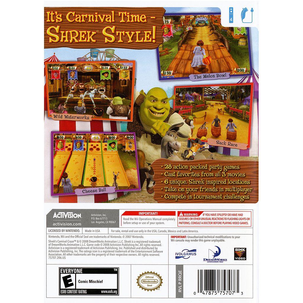 Nintendo Wii Shrek's Carnival Craze: Party Games