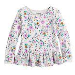 Toddler Girl Jumping Beans® Long Sleeve Peplum Tee
