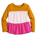 Toddler Girl Jumping Beans® Long Sleeve Color Block Peplum Tee