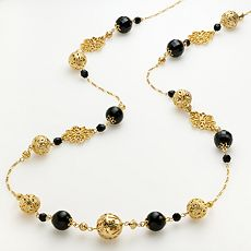 apt. 9 Gold-Tone Beaded Long Necklace
