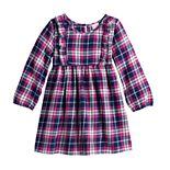 Toddler Girl Jumping Beans® Ruffle Front Flannel Dress