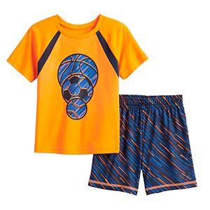 Toddler Boy Jumping Beans® Active Raglan Tee & Shorts Set