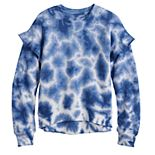 Girls 4-20 SO® Tie Dye Ruffle Sleeve Sweatshirt is Regular & Plus Size